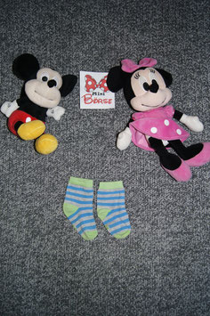 Socken, grau-grün-blau gestreifte Socken, Füsslänge ca. 11 cm
