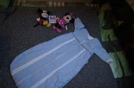 Schlafsack Gr. 110, hellblauer dicker Schlafsack