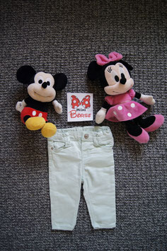 Jeans Gr. 68,  türkise Jeans