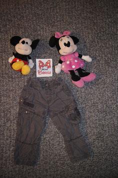Jeans Gr. 92, hellbraune lässige Jeans mit innenstoff