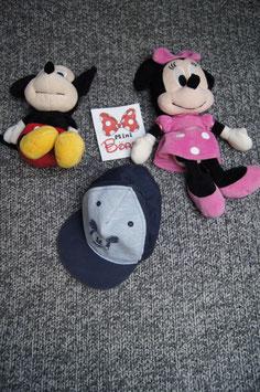 Sommermütze Gr. 7-9 Mt, blaues Sommercap mit Mickey Maus
