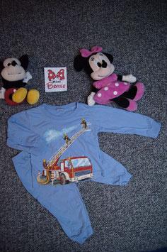 Pijama Gr. 92, blauer Pijama mit Feuerwehr