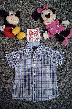 Hemd Gr. 86/92, weiss-blau gestreiftes Tommy Hilfiger Hemd