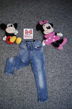 Jeans Gr. 98, helle Jeans skinny fit mit Druckknopf