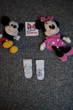 Socken, graue Socken mit Einhorn und antirutsch Punkte