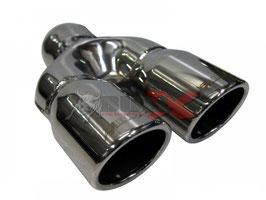 "Bull-X ""Y""-Endrohr Typ 12 gebördelt versetzt Kugelkopf 2x76mm"