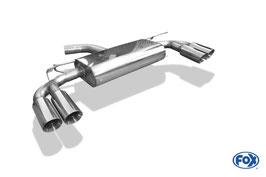 FOX Endschalldämpfer Sportschalldämpfer je 2x 80mm Endrohre Seat Leon Cupra 5F