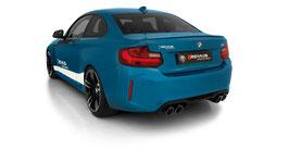 Remus Abgasanlage ab KAT BMW M2 F87 + optional mit Remus Endrohren oder MMR Endrohren + optional mit Remus Sound Controller