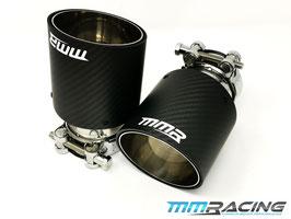 MMR 2x Carbon Endrohre 90mm / 100mm / 114mm für Remus Abgasanlagen