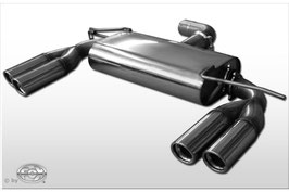 Fox Sportauspuff Sportschalldämpfer mit je 2x 76mm Endrohre Seat Leon 1P
