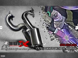 BULL-X VAG 1,4 TSI EWG-Downpipe für Fzge. ohne Kompressor