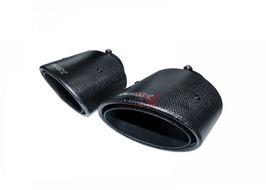 Bull-X Endrohrset Typ 3 Carbon Oval 2x 126x94mm Kugelkopfanschluss