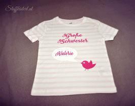 Shirt zur Geburt des Geschwisterchens - bedruckt