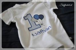 T-Shirt zum ersten Geburtstag bestickt