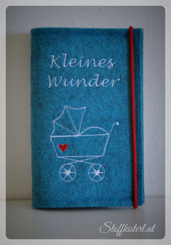 Mutter-Kind-Pass Hülle Kinderwagen türkis
