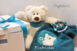 GESCHENKSETAKTION BÄR-DECKE-GREIFLING inklusive GRATIS Box, Geschenkband und Glückwunschkarte