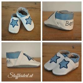 Lederpuschen BLUE STAR