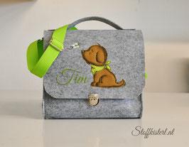 Kindergartentasche aus Filz - Hündchen & Name