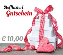 Stoffkisterl Gutschein € 10,00