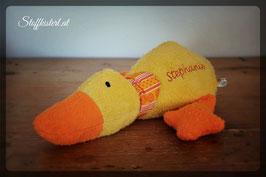 Kuschelente gelb-orange