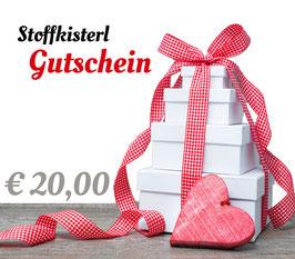 Stoffkisterl Gutschein € 20,00