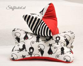 Leseknochen mit oder ohne Personalisierung Katze rot/schwarz/weiß