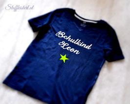 Shirt zum Schulstart mit Namen