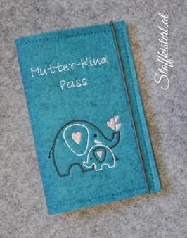 Mutter-Kind-Pass Hülle ELEFANTENMAMA & Baby