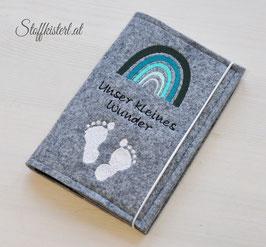 Mutter-Kind-Pass Hülle REGENBOGEN mint rosa oder grün