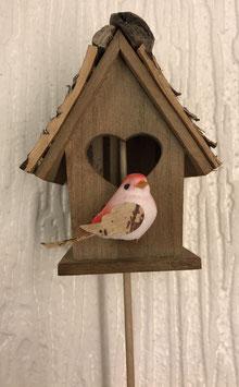 Vogelhäuschen Vogel rot