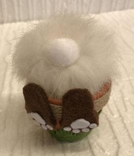 Hase im Blumentopf mini weiss