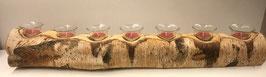 Birkenstamm 7 Teelichter