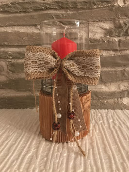 Kerzenhalter Holz/Glas