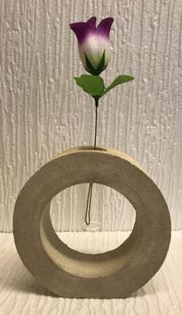 Betonreif mit Reagenzglas