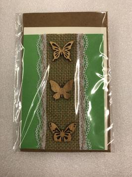 Schmetterling hellgrün