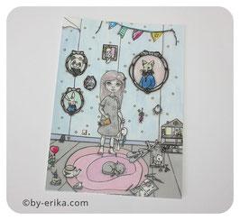 Damoiselle Zéphérine #2.0, carte postale