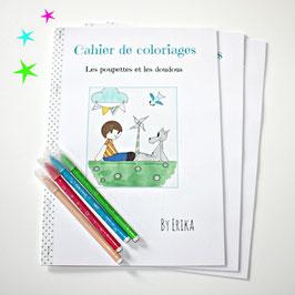 Les poupettes et les doudous, cahier de coloriages