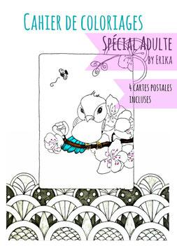 Les animaux, cahier de coloriages spécial adulte