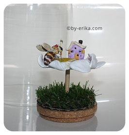 Le petit monde des fleurs: la marguerite, sculpture en argile (pas d'envoi pour cet article)