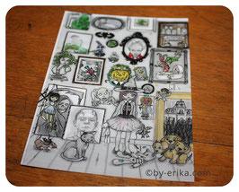 Damoiselle Zéphérine dans sa galerie, carte postale