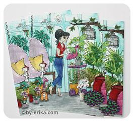 Lady Mum dans son jardin d'hiver