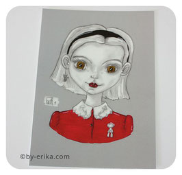 Fan Art Sabrina, carte postale
