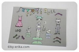 Damoiselle Ivy, paper doll, carte postale