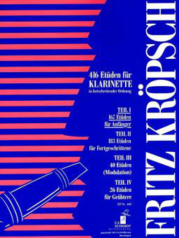 Kröpsch - 416 Etüden für Klarinette Teil 1