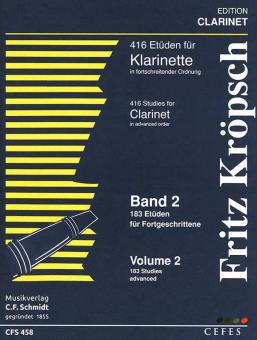 Kröpsch 416 Etüden für Klarinette Teil 2