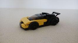 Miniscale Bugatti yellow