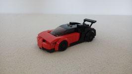 Miniscale Bugatti red