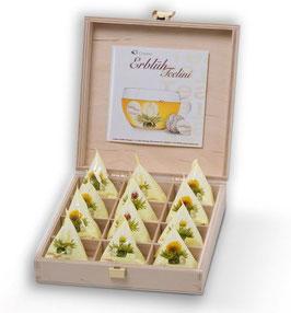 "12er ErblühTeelini Holzbox ""Weisser Tee"""