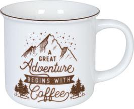 Porzellan Becher CAMPER COFFEE