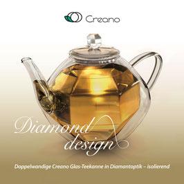Teekanne DIAMOND - doppelwandig isolierend